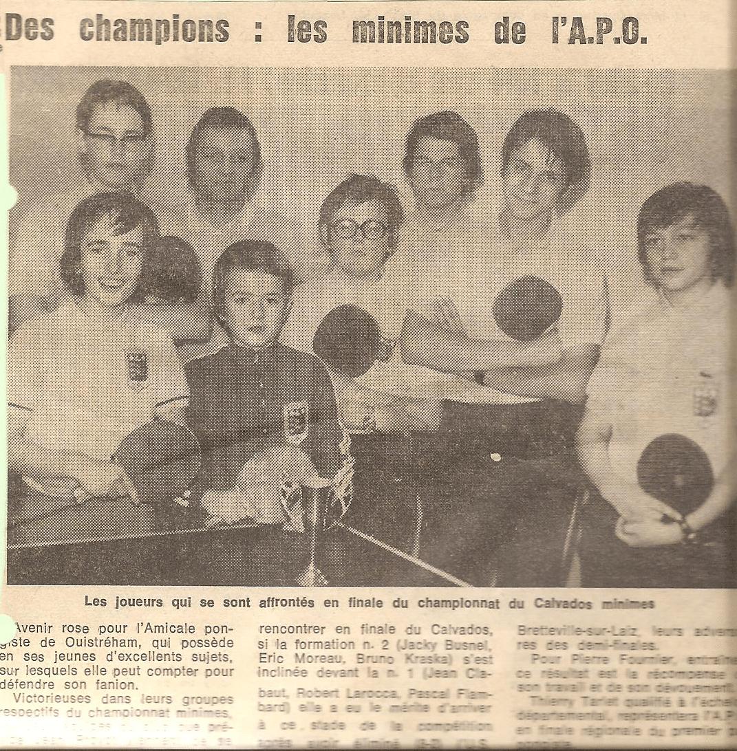 Ancienne équipe de l'APO
