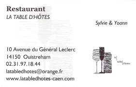 Logo Restaurant la table d'hôtes